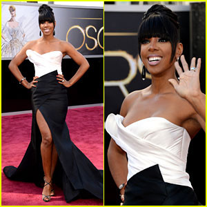 #3- Kelly Rowland. I am a huge fan of black and white. This Donna Karan Atelier dress does not dissapoint!