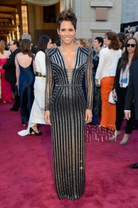 #1 Halle Berry. This custom Versace metallic dress is just EVERYTHING. She was certainly the BEST DRESSED at the Oscars.