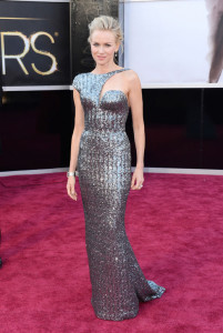 #2- Naomi Watts ROCKS this beaded one shoulder Armani Prive. She shows how to reveal very little skin and still look HOT.