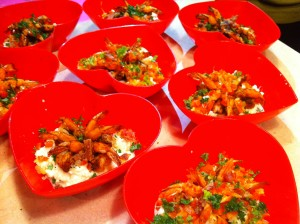 Shrimp & Grits cooked and plated by attendees.