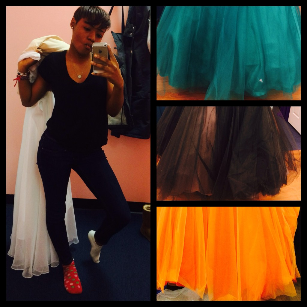 Our first prom dress shopping outing.