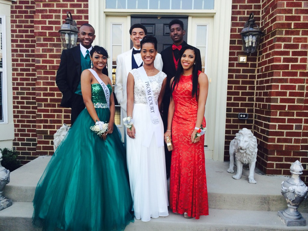 Fahrelle attended prom with a group of friends.